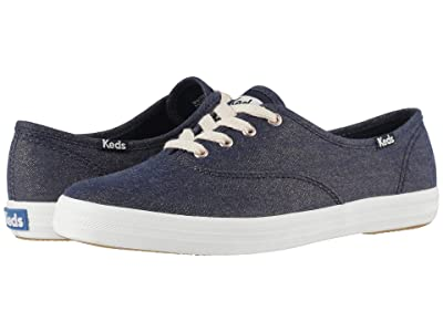 Keds Champion Lurex Denim (Navy Lurex Denim) Women
