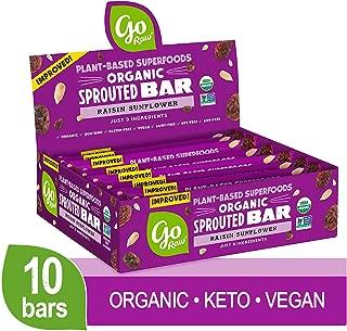 Go Raw Seed Bars, Raisin Sunflower   Keto   Gluten Free Snacks   Vegan   Organic   Paleo   Superfood (10 Bars)
