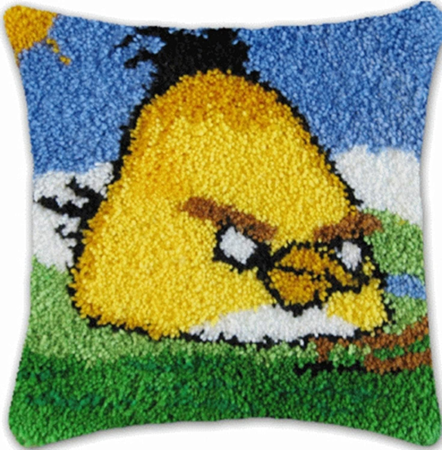 Cushion Latch Hook Free shipping on posting reviews Kit Little Excellent R 43×43Cm Pattern Bird