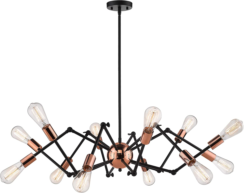 Special price JAZAVA Industrial Sputnik Chandelier 12-Lights Genuine Fixture Mo Light