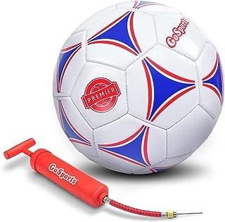 GoSports Premier Soccer Ball with Premium Pump -...