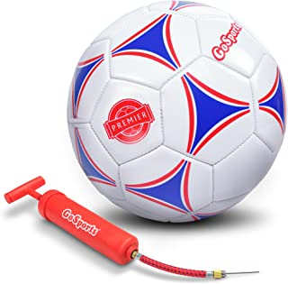 GoSports Premier Soccer Ball with Premium Pump -...