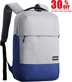 OUTJOY Laptop Backpack for Men Lightweight Waterproof Anti-Theft Travel Backpack School Backpack Computer Backpack Laptop Bag for 15.6 inches Notebooks for Business Work College(Blue and Grey)