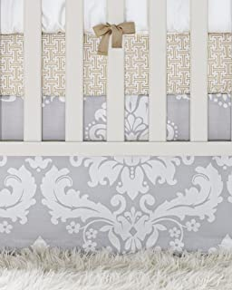 Serena and Lily Dove Damask Crib Skirt