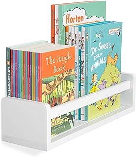 Wallniture Madrid Shelf Nursery Baby Room Wood Floating Wall Shelf White Kid's Room Bookshelf Display Decor 43cm