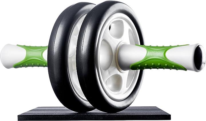 Attrezzo per addominali ab roller / trainer ab incl. supporto per le ginocchia - ultrasport 431100000011