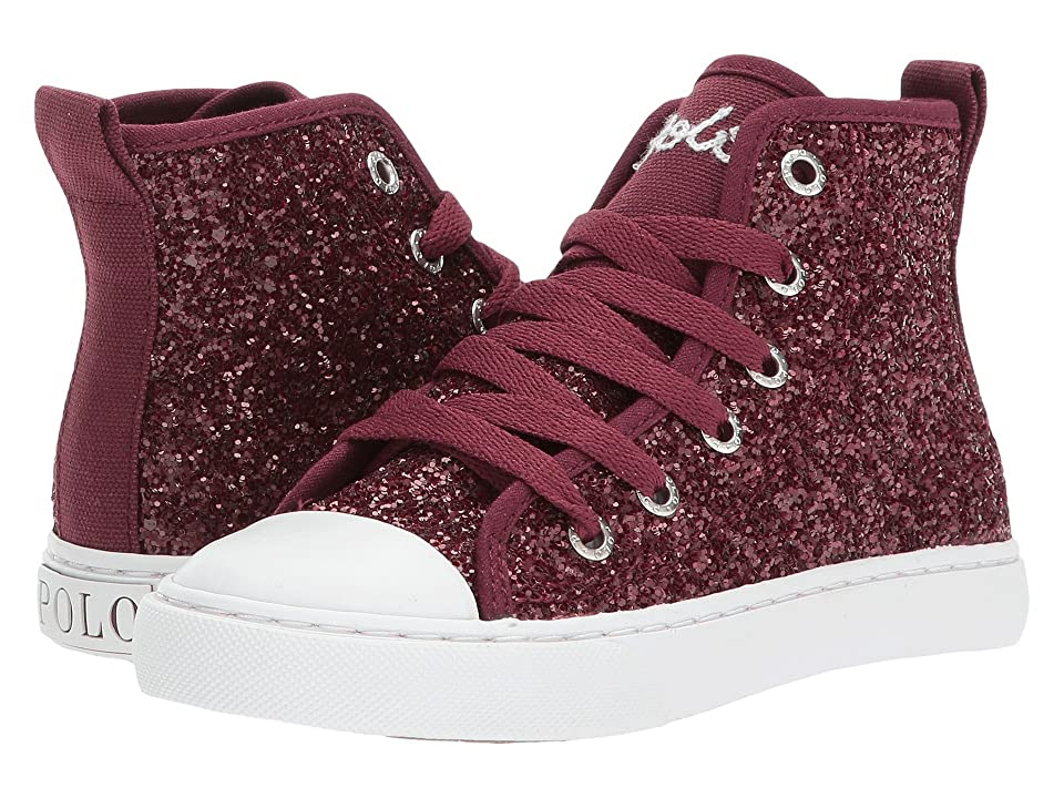 Polo Ralph Lauren Kids Hollyn (Little Kid) (Burgundy Glitter) Girl