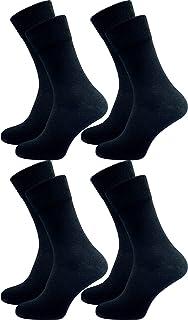 GAWILO Lot de 4 paires de chaussettes pour homme - Tricot épais - Opaque - 94 % coton