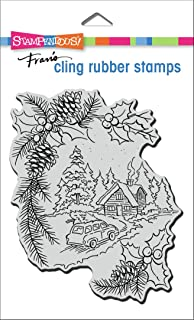 STAMPENDOUS Cling Rubber Stamp Pine Cabin