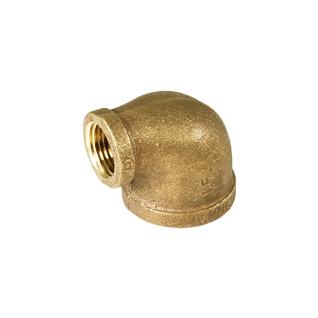 Everflow BRRL1124-NL 1-1/2-Inch x 1-1/4-Inch Lead Free 90-Degree Brass Reducing Elbow with Female Threaded Ends, Brass Construction, Higher Corrosion Resistance Economical & Easy to Install