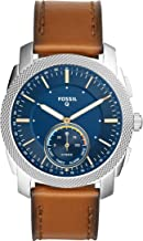 Fossil Q Men's Machine Brown Leather Hybrid Smartwatch FTW1162