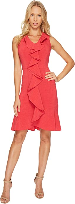 Christin Michaels - Sloan Sleeveless Dress with Ruffle
