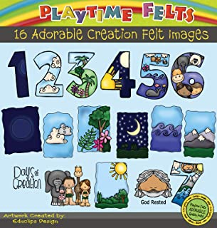 Days of Creation Felt Figures for Flannel Board Fun by Playtime Felts