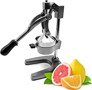 Commercial Manual Citrus Juicer by KP Professional | Durable Hand Press Stainless Steel Construction | Ergonomic Grip, Premium quality Iron Base Stand | Manual Citrus Press and Orange Squeezer | Juice Extractor For Pomegranate, Orange, Lemon, Lime Squeezer Press Stand (Grey)