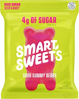 SmartSweets Sour Gummy Bears, Candy with Low Sugar (4g), Low Calorie, Free From Sugar Alcohols, No Artificial Colors or Sw...