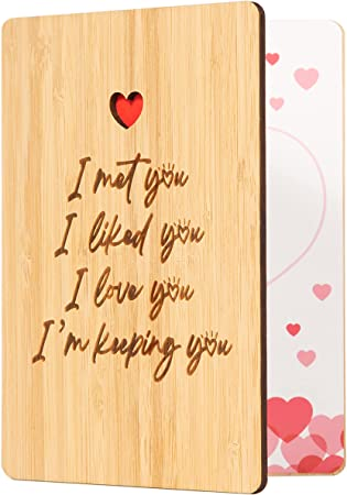 Text Version I Met You Anniversary Card