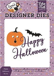Echo Park Paper Company BE166040 Happy Halloween - Set de troquel, color morado, amarillo, negro, naranja