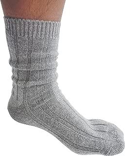 Cashmeren Extra Soft Lavishly Warm 100% Pure Cashmere Sleep Socks for Men (One Size fits 7-13)