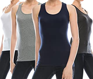 ec6c83a87d coul J 4 Pack Women s Cotton Stretch Long Cami Tank Top