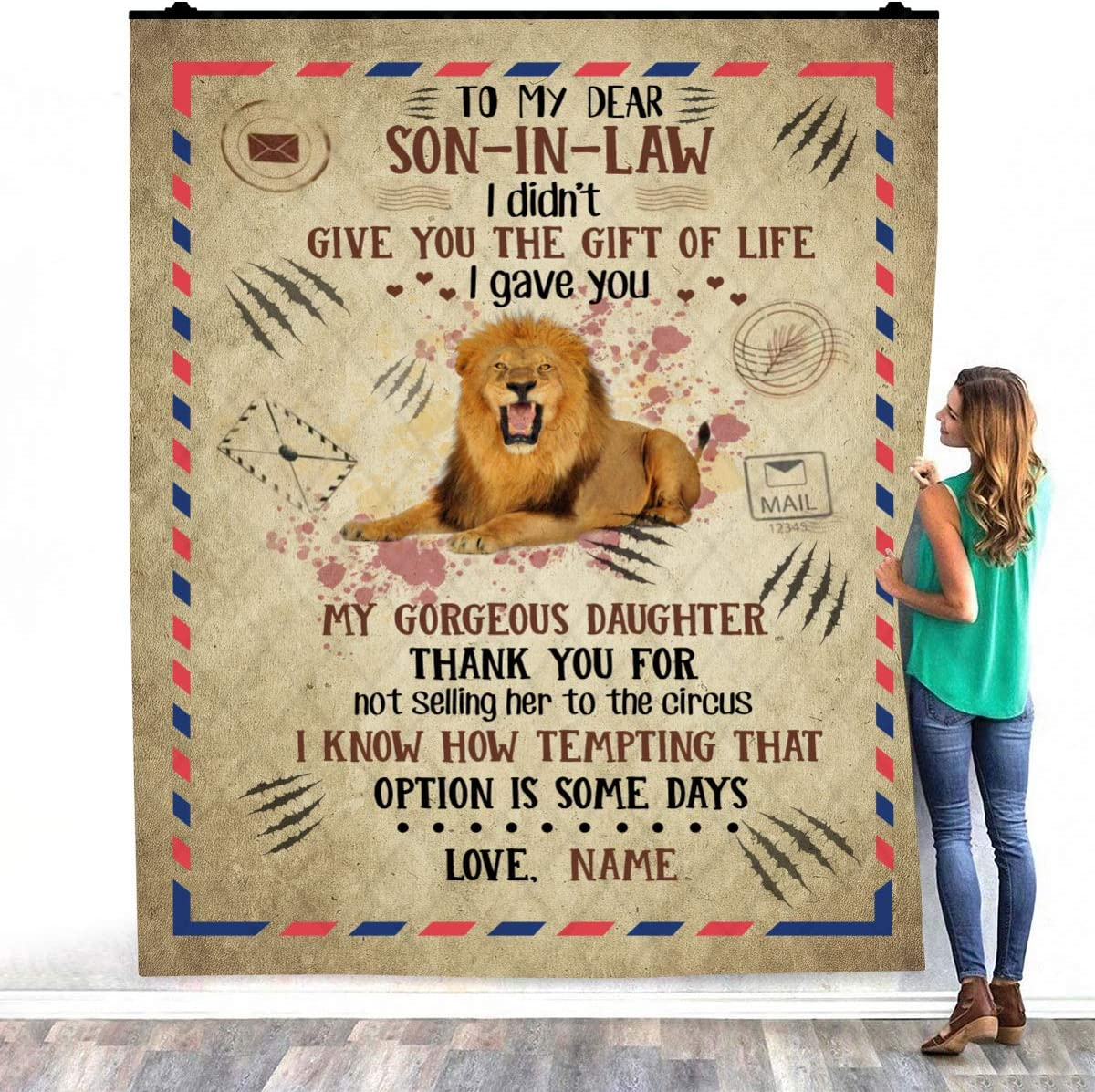 Personalized Name Message Lover Letter to Dear My fro Law in All stores are sold Special price for a limited time Son
