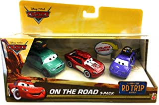 Disney Pixar Cars On The Road 3-Pack Featuring Cruisin' Lightning McQueen, Van, Mini with Luggage Carrier