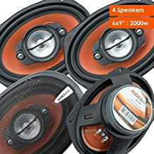 2 Pairs of Audiobank 6x9 1000 Watt 4-Way Car Audio Stereo Coaxial Speakers - AB790