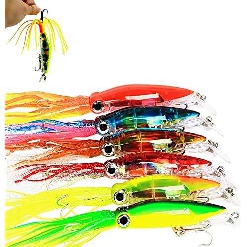 """2 NEW Rigged Big Game Squid Trolling Fishing Lure 7.5/"""""""