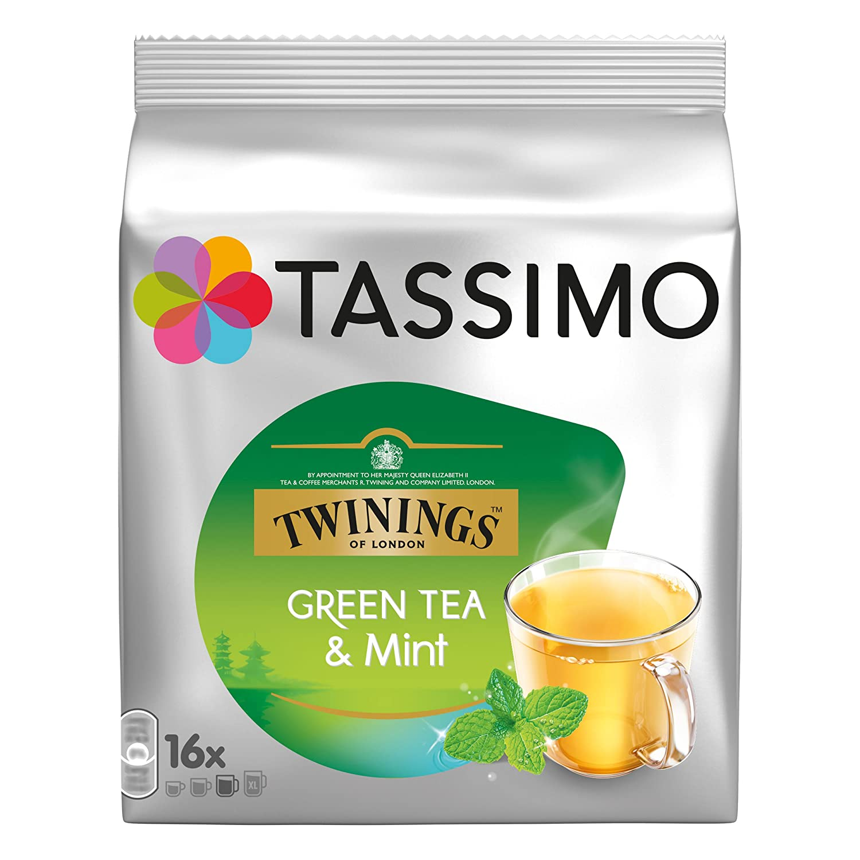 Overseas Bombing new work parallel import regular item Tassimo Twinings Green Tea T-discs 16 Mint