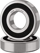 XiKe 6306-2RSx2Pcs Double Seal and Pre-Lubricated, Deep Groove Ball Bearings (Pack of 2)