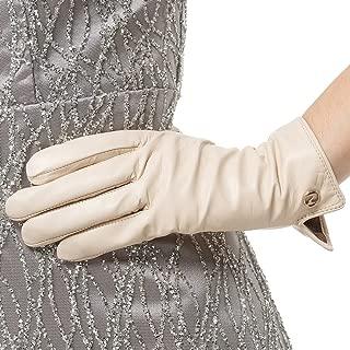 white leather flying gloves