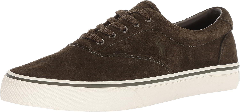 POLO RALPH LAUREN Men's Thorton Sneaker, Deep Olive, 9.5 D US