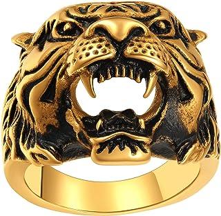 حلقه های سر خیره کننده ببرهای مردانه ChainsPro ، ساخت خوب ، انگشتر حیوانات معنوی ، اندازه