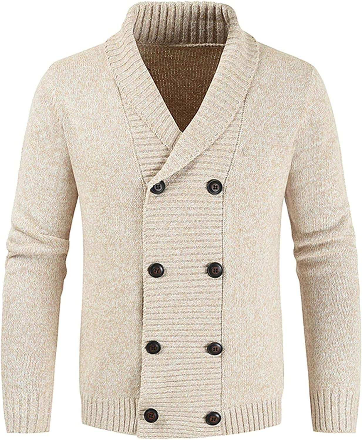 Men Knitted Cardigan Sweaters Winter Sweaters Casual Double-Breasted Cardigan Knitwears