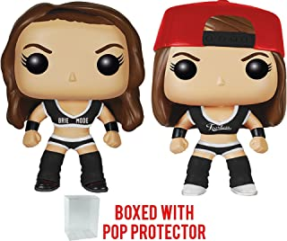 Funko Pop! WWE Total Divas - Brie Bella & Nikki Bella Black Outfit 2-pack Vinyl Figure (Bundled with Pop Box Protector Case)