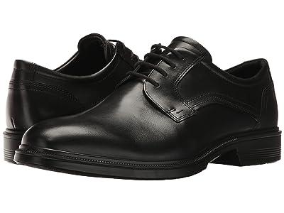 ECCO Lisbon Plain Toe Tie (Black) Men