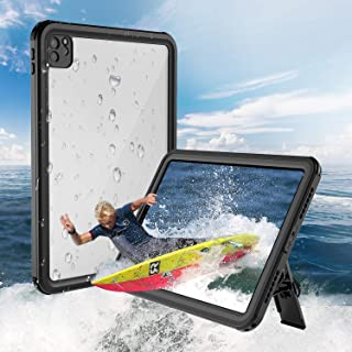 iPad Pro 11 インチ 防水ケース 2020春モデル 第二世代 アイパッドカバー 耐衝撃 IP68防水規格 完全防水 薄型 軽量 全面保護 スタンド機能 安心感 ストラップ付き アウトドア お風呂 プール キッチン 耐衝撃カバー 薄型 ...
