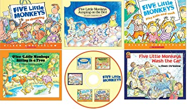 5 Little Monkeys Collection: Five Little Monkeys Jumping on the Bed, Five Little Monkeys Go Shopping, Five Little Monkeys Play Hide-and-Seek, Five Little Monkeys Sitting in a Tree, Five Little Monkeys Wash the Car, and a CD with all five stories (5 Little Monkeys)