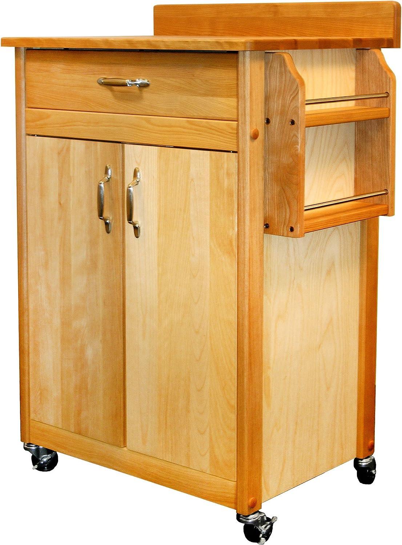 Catskill Craftsmen Butcher Block Max 86% OFF Max 60% OFF Cart with Backsp and Doors Flat