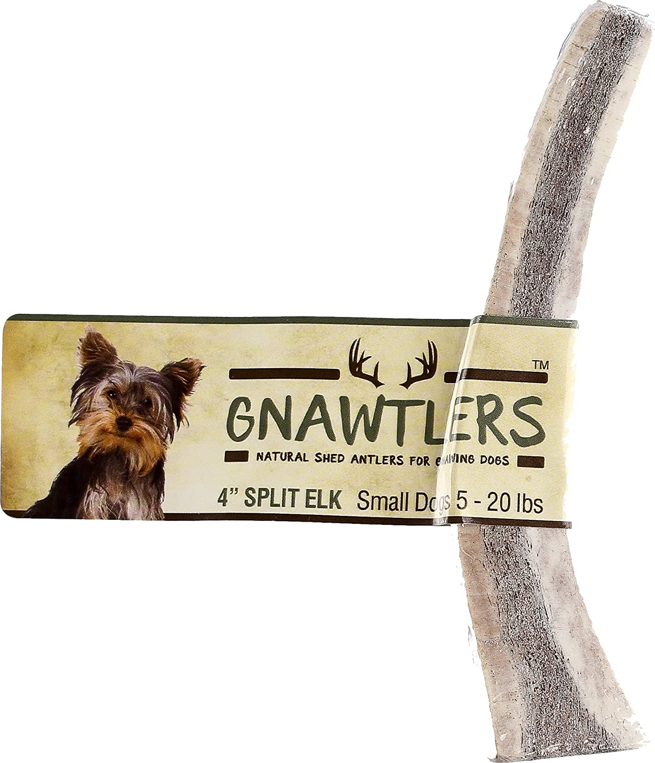 Gnawtlers  Premium Split Elk Antlers for Dogs, Naturally Shed Elk Antler Split, All Natural Split Elk Antler Chews, Specially Selected from Rocky Mountain & Heartland Regions  4  Elk Antler Small