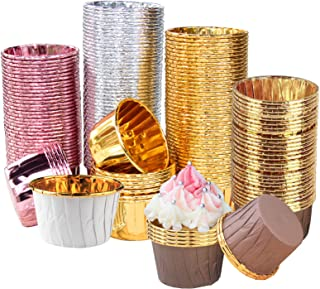 Tallgoo Caissettes Cupcake,Tasses de Papier de Cuisson, 200PCS Cupcakes Moulle de Cuisson Moules à Muffins en Papier pour ...