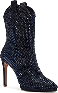 Jessica Simpson Women's Vianne Bootie Ankle Boot, Classic Navy, 6.5