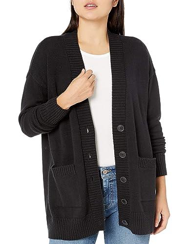 The Drop Carrie Suéter de Bolsillo con Parche Frontal de Botones de Gran Tamaño - Cardigan-Sweaters Mujer