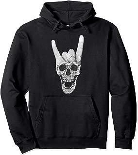 Heavy Metal Hoodie skull devil horns sign for Women Men