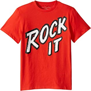 Boy's Rock It T-Shirt (Toddler/Little Kids/Big Kids) Red 10 (Big Kids)