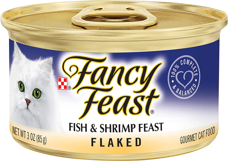 Purina Fancy Feast Flaked Fish & Shrimp Feast Cat Food  (24) 3 oz. Pulltop Can