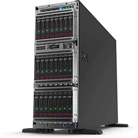 HPE ProLiant ML350 Gen10 Tower Server with one Intel Xeon Silver 4210 Processor, 16 GB Memory, and 8 Small Form Factor (SFF) Drive Bays