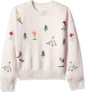 Girls' Big Long Sleeve Knit Sweater