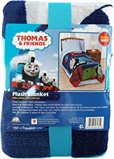Thomas & Friends Thomas the Tank Engine Blue & Red Bed Blanket (Twin) 62 x 90