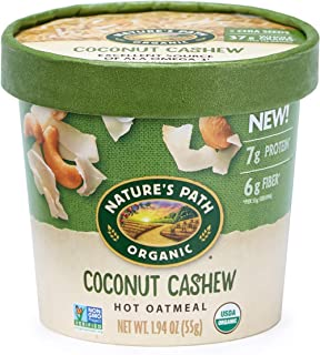 Nature's Path Organic Oatmeal Cup, Coconut Cashew, 1.94 Oz Container (Pack of 12)