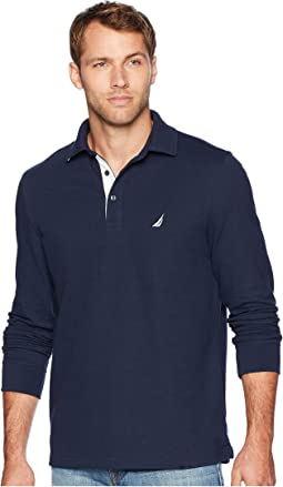 Long Sleeve Solid Polo